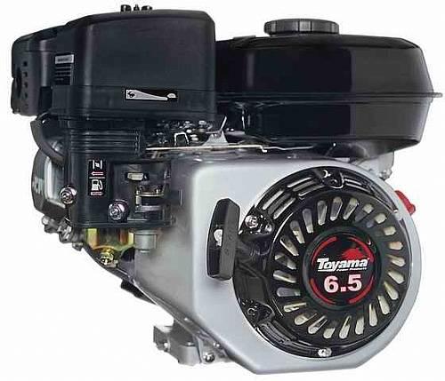 Motor TOYAMA 6,5HP 4T c/ sens. óleo bobina P. elétri. OFERTA - BSS Maquinas