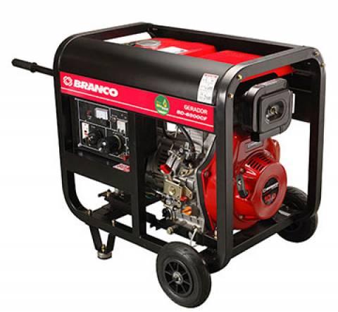 Gerador Branco Diesel BD 6500 5,0 KVA P. Elétrica, Em OFERTA - BSS Maquinas