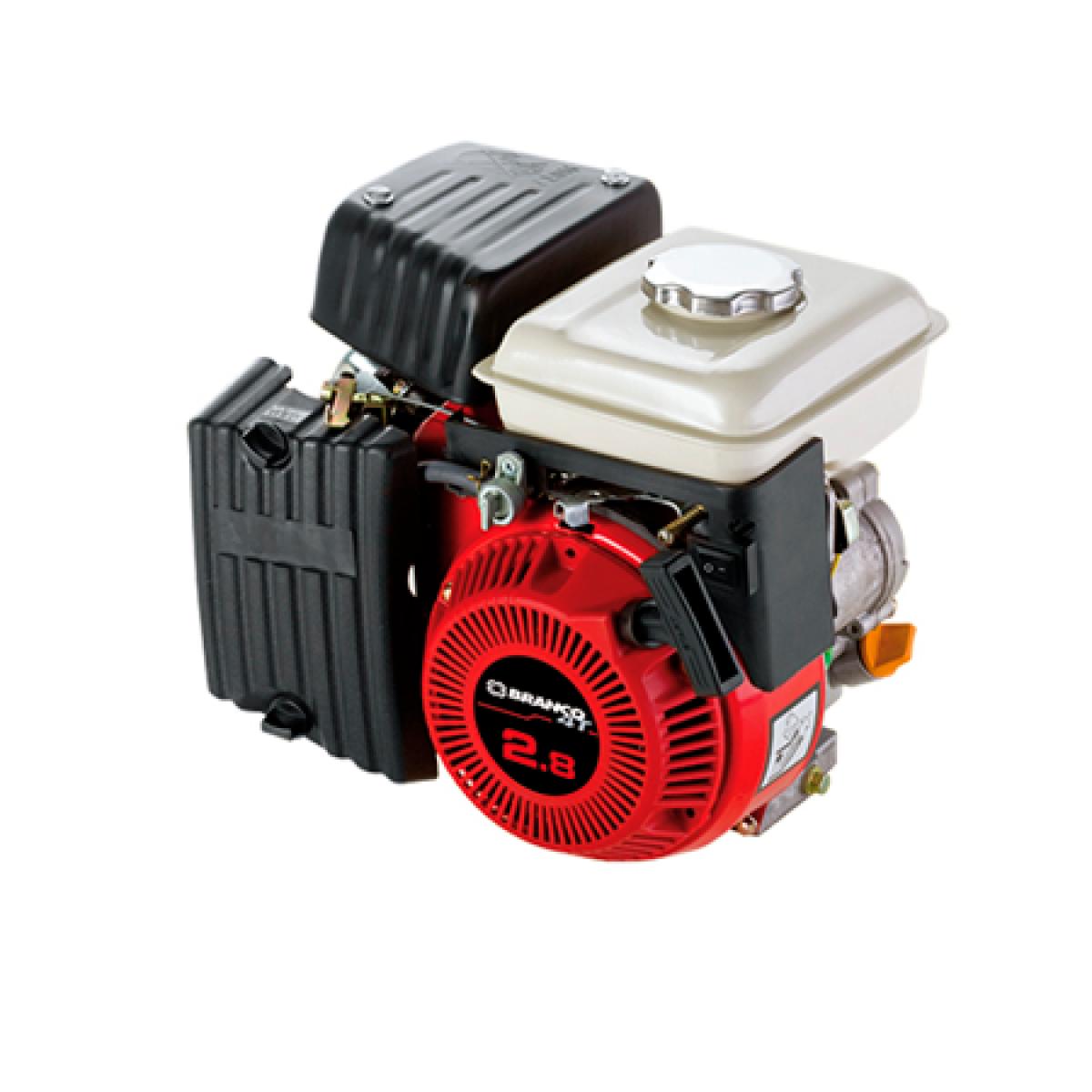 Motor Branco GasolinaB4T 2,8CVeixo Horzinotal P.Manual