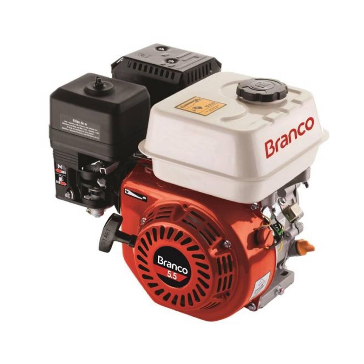 Motor Branco B4T 5,5CV Eixo H S/ Alerta de òleo, Em PROMOÇÃO - BSS Maquinas