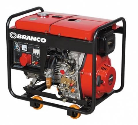 Gerador Branco Diesel BD 8000 6,5 KVA P. Eletrica, Em OFERTA - BSS Maquinas