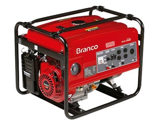 Gerador Branco Gasolina B4T 3500 P. Manual 3,5KVA, Em OFERTA - BSS Maquinas