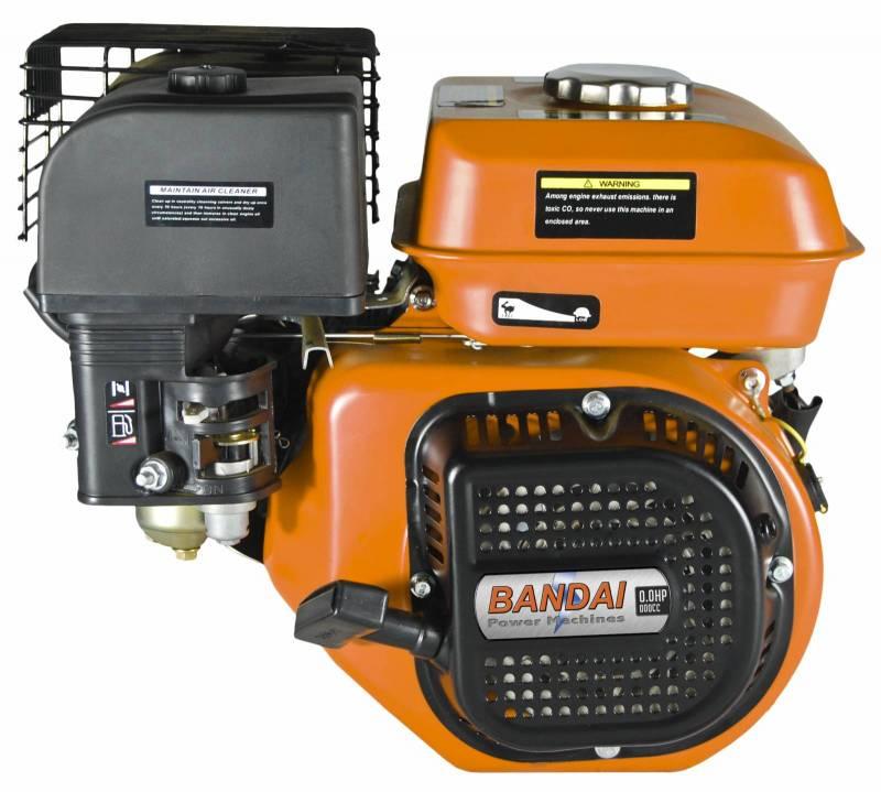 Motor 4T BANDAI Gasolina - 6HP - 196cc - P. Manual - Eixo 3/