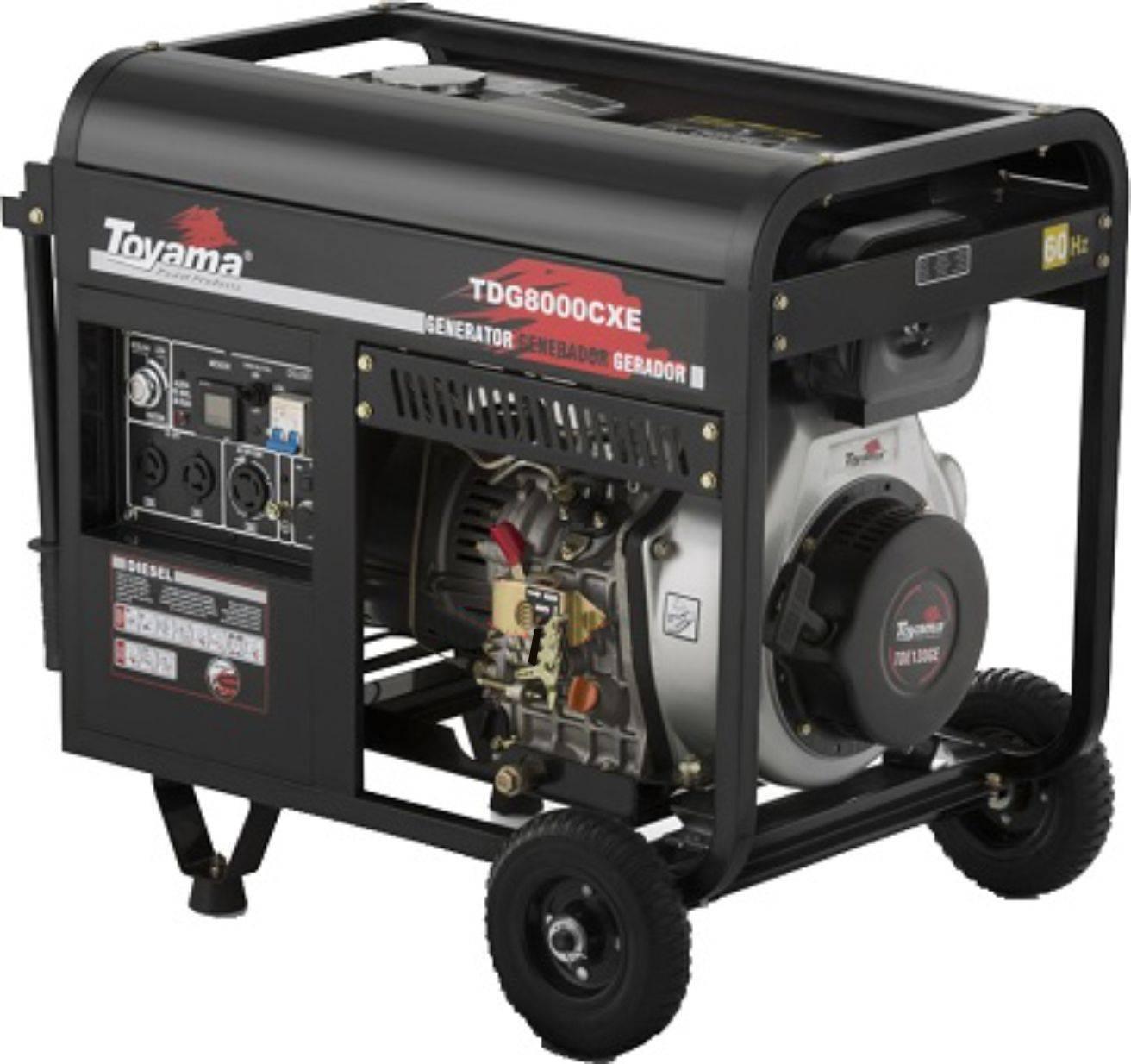 Gerador a Diesel Toyama TDG8000CXE Monof. 6,5 KVA 127/220V