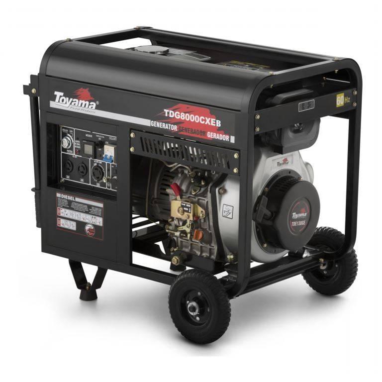 Gerador Diesel Toyama TDG8000CXEB Mono. 6,5KW, ADQUIRA AGORA - BSS Maquinas