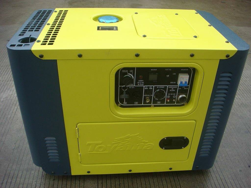 Gerador a Diesel Toyama TDG8000SLE3D TRIF 8,1 kVA, Em OFERTA - BSS Maquinas