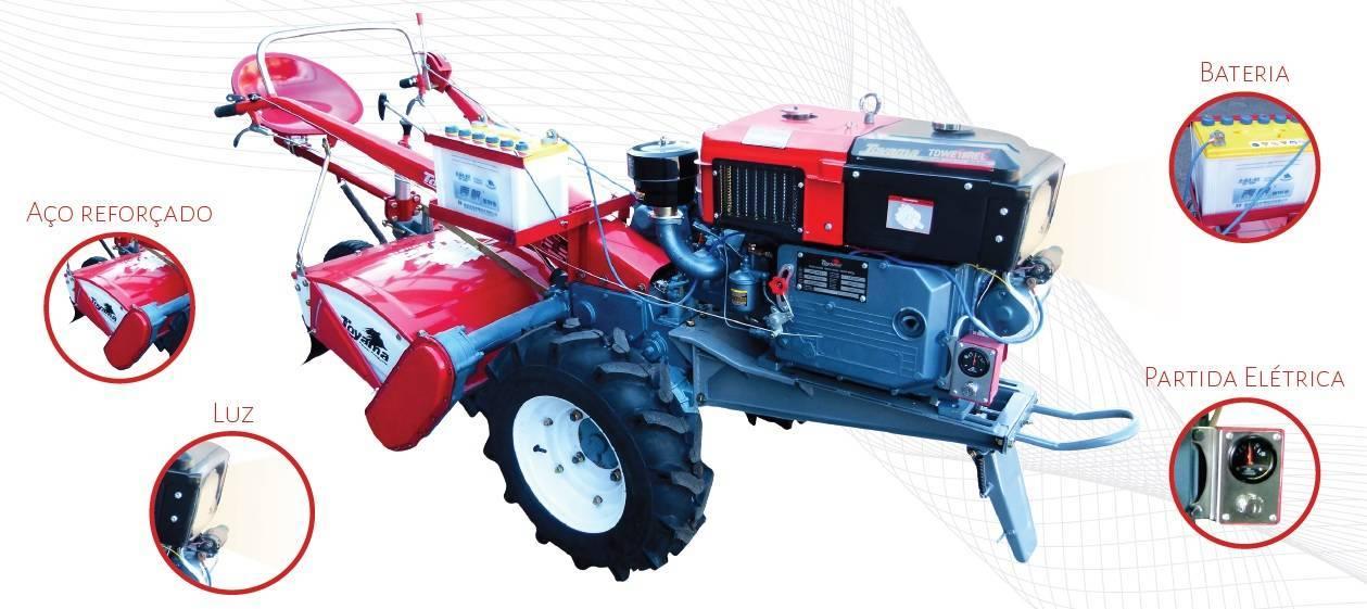 Microtrator Toyama TDWT80E 16.5HP com enxada rotativa - BSS Maquinas