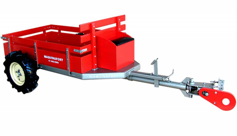Carreta Fixa Simples C/ Tração 600T Sem direção para 600kg - BSS Maquinas