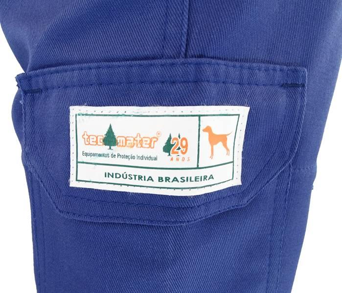 Calça Tecmater Azul Canitec proteção contra ataques caninos  - BSS Maquinas