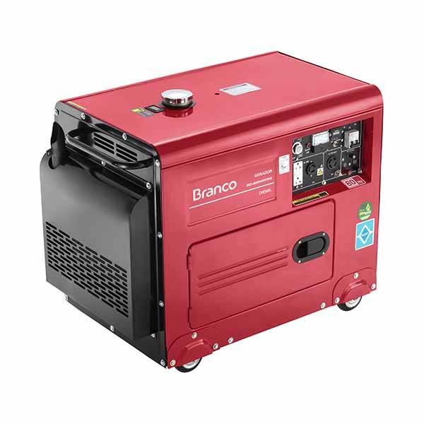 Gerador Monofásico Branco Diesel BD 6500 ES 5KVA P. Elétrica - BSS Maquinas