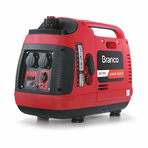 Gerador Mono. 110v Branco B4T 2000i 2 KVA P. manual - BSS Maquinas
