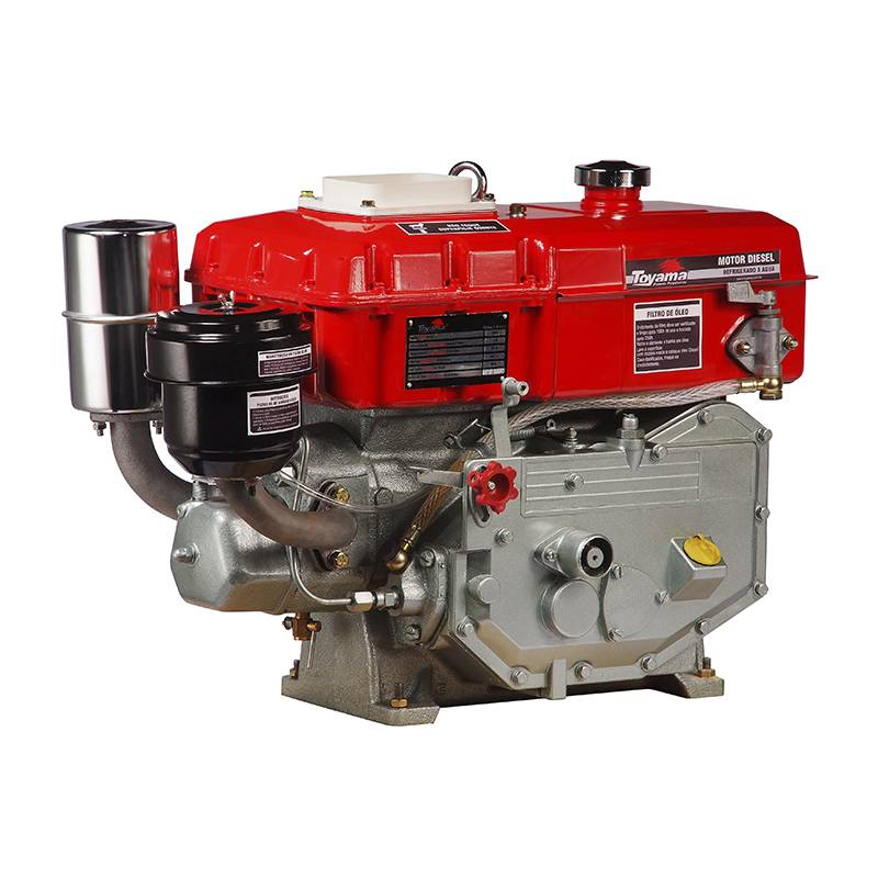 Motor Diesel TDW8R Toyama 7,7hp Refrigerado Agua c/ Radiador - BSS Maquinas