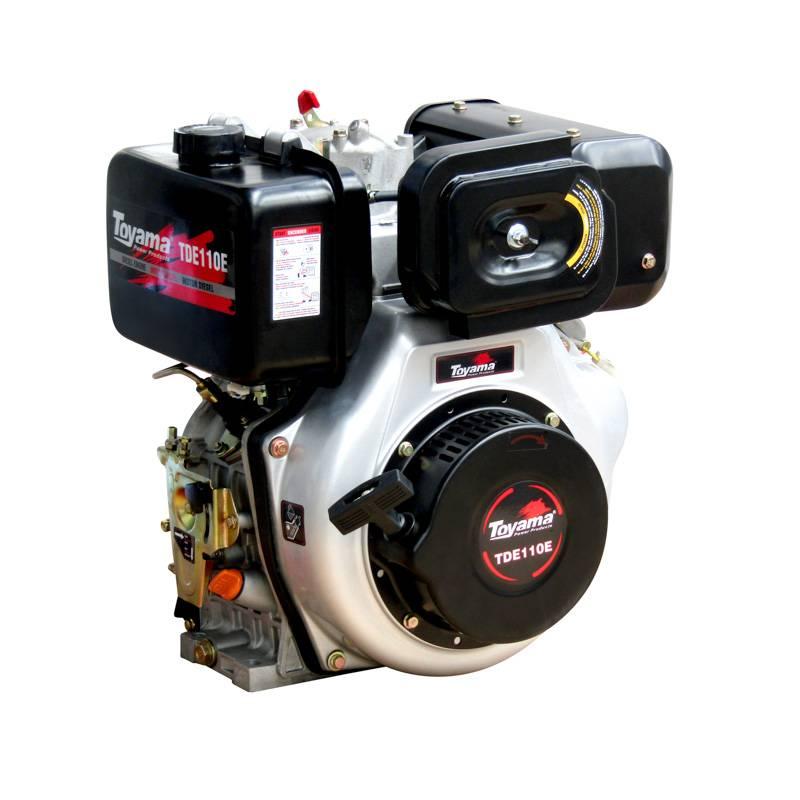 Motor Toyama à diesel TDE110E 10,5HP 4 Tempo P. Elétrica - BSS Maquinas