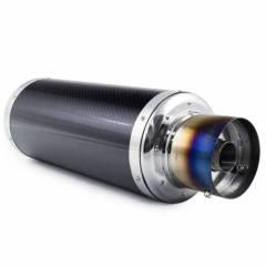 Abafador Esportivo Luzian Inox - Fibra de Carbono | Entrada 3