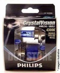 Kit Lâmpadas Philips Crystal Vision 4300k - HB4/9006 (com pingos)