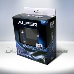 Kit Lâmpadas Alper Crystal Blue Xtreme 5000k - H8