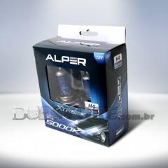 Kit Lâmpadas Alper Crystal Blue Xtreme 5000k - H4