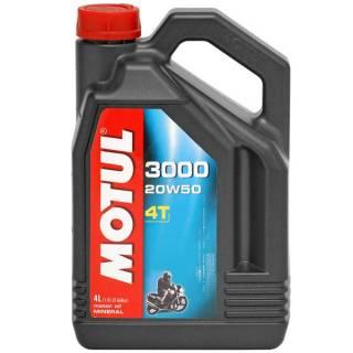 Óleo Motul 3000 4T para motor 4T 20W50 Mineral | 4 litros | DUB Store