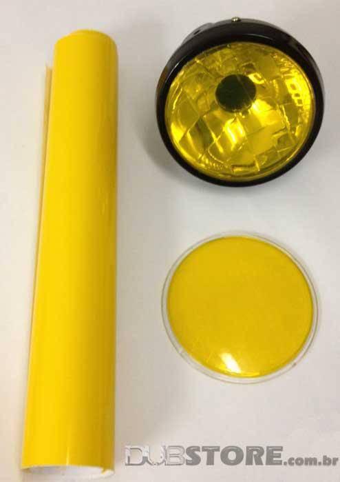Película para farol ou lanterna na cor Amarelo 30x50cm   DUB Store