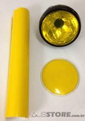 Película para farol ou lanterna na cor Amarelo 30x50cm