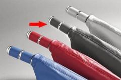 Manopla de Freio de Mão Isotta 478 GRX - Cinza c/ cromado, sem coifa.