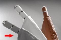 Manopla de Freio de Mão Isotta 478 IG - Cinza Gelo c/ cromado, acompanha coifa Cinza Gelo.