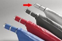 Manopla de Freio de Mão Isotta 478 FC - Carbono Cinza c/ cromado, acompanha coifa Carbono Cinza.