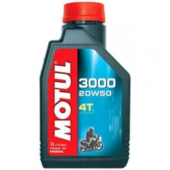 Óleo Motul 3000 4T para motor 4T 20W50 Mineral   1 Litro.