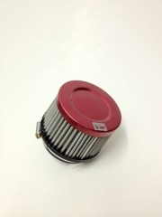 "Filtro de ar cilíndrico fluxo simples, pequeno | Prata e Laranja | boca de 2,5"" - Universal."