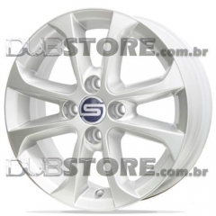 Jogo de Rodas Gol G5 Scorro S-205 14x5,5 4x100   Cinza Claro
