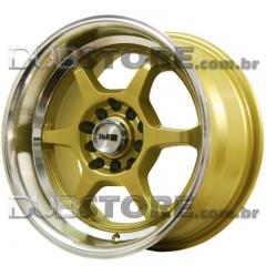 Jogo de Rodas GSW R9108 15x8 5x100/114 | Dourada