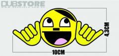 Adesivo Adolf Smile 10x4,3cm