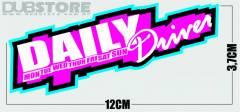 Adesivo Daily Driver 12x3,7cm