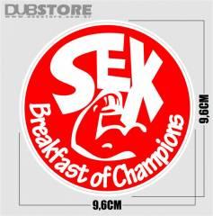 Adesivo SEX, Breakfast of Champions 9,6x9,6cm