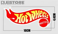 Adesivo HotWheels 10x4,4cm