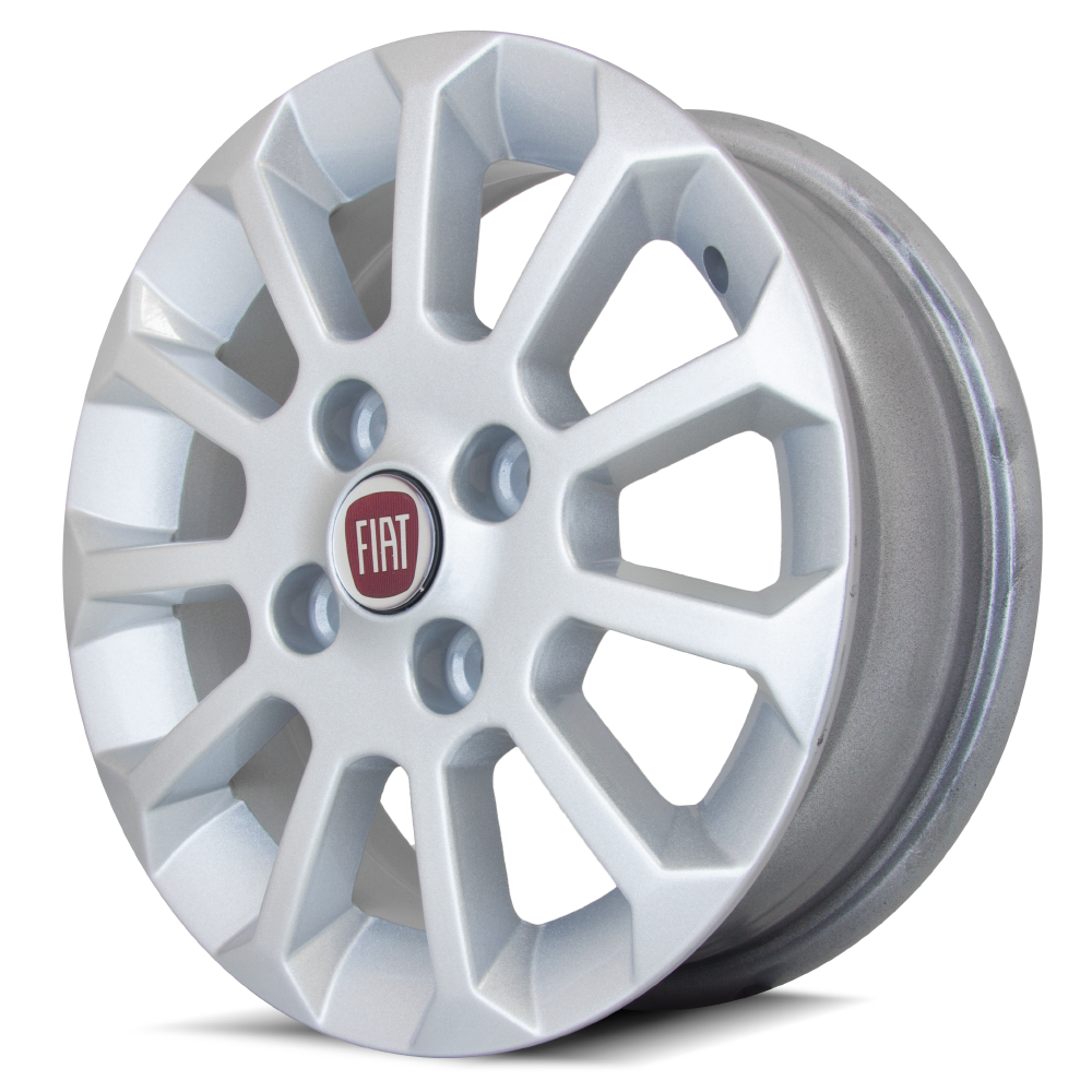 Jogo de Rodas Fiat Uno Mille Top aro 13x5 4x98 | Prata | DUB Store
