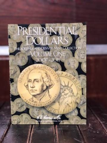 Álbum Americano das moedas de 1 Dollar dos Presidentes. Volume I e II - Numismática Vieira