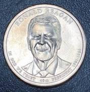 Moeda 1 Dollar Americano   Serie Presidentes   Calvin Coolidge