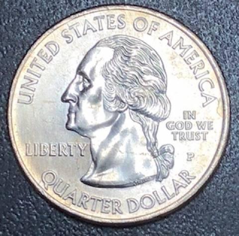 Moeda de 1/4 Dollar Americano - Série Estados, Distritos e Territórios. - Numismática Vieira