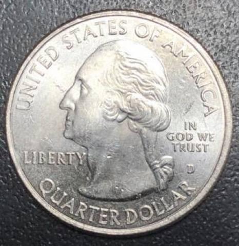 Moeda de 1/4 Dollar Americano - Série Parques Nacionais. - Numismática Vieira