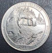 Moeda de 1/4 Dollar Americano - Série Parques Nacionais.