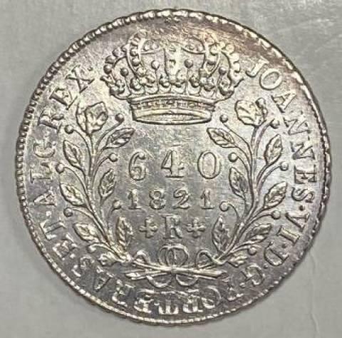 Catálogo Vieira Nº 356 - 640 Réis 1821R - Numismática Vieira
