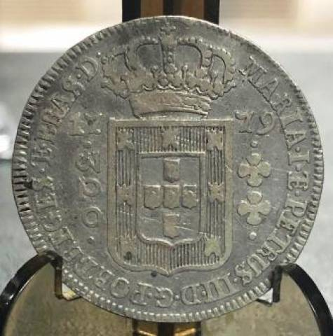 Catálogo Vieira Nº 203  320 Réis 1779 - Numismática Vieira