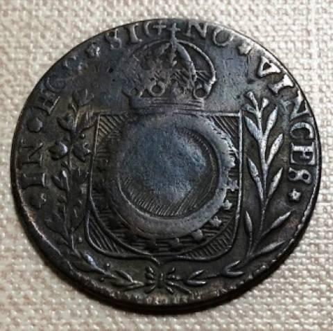 Catálogo Vieira Nº 699 40 Réis c/c 10 Réis 1829C - Numismática Vieira