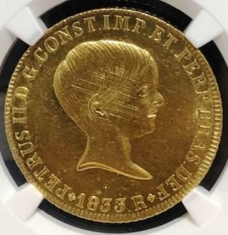 Catálogo Vieira Nº 594A 6.400 Réis 1833R