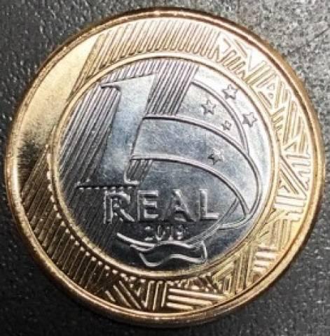 Moeda de Um Real comemorativa aos 25 Anos Plano Real 2019 - Numismática Vieira