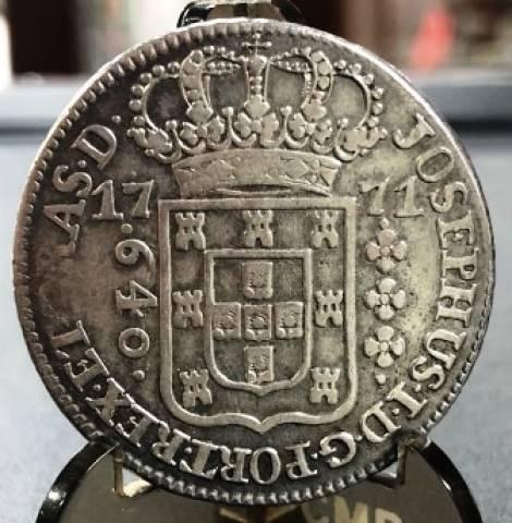 Catálogo Vieira Nº 184 640 Réis 1771 SUBQ - Numismática Vieira