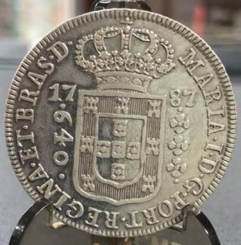 Catálogo Vieira Nº 239 640 Réis 1787 - Numismática Vieira