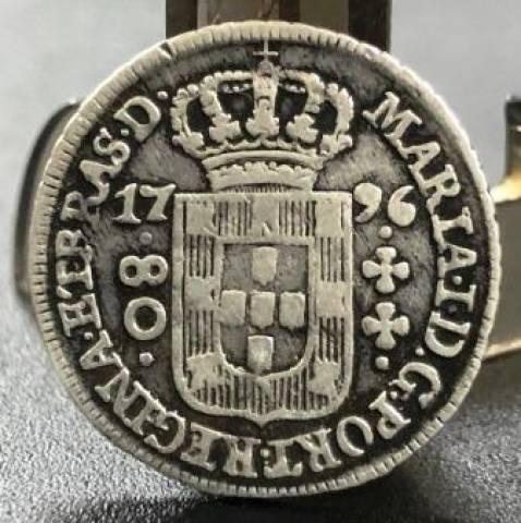 Catálogo Vieira Nº 253 80 Réis 1796 - Numismática Vieira
