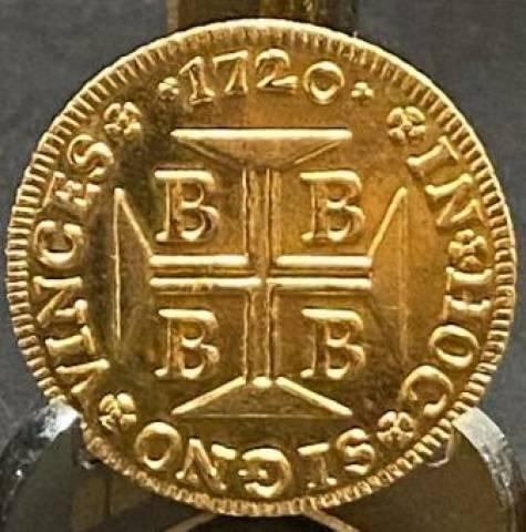 Catálogo Vieira Nº 061 4.000 Réis 1720B - Numismática Vieira